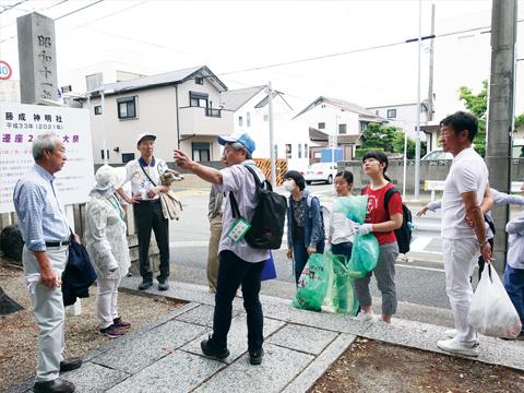 地域歴史散策とまちかど清掃奉仕<br> 名古屋昭和ロータリークラブ