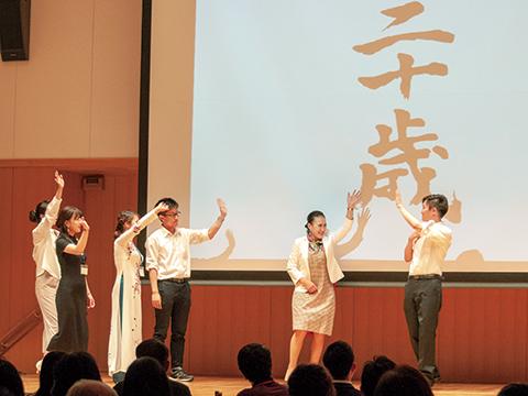 米山梅吉翁の生涯を米山学友、奨学生が熱演<br>ロータリー米山奨学生学友会(東京)